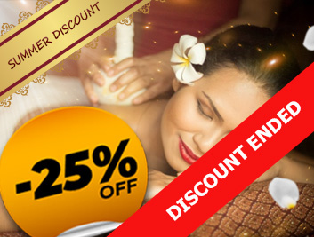 Summer discount 25% on the most popular Thai massages